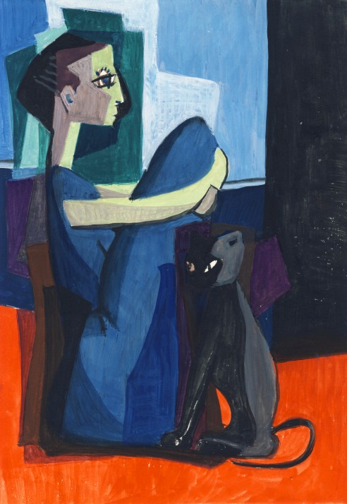 Man And Black Cat